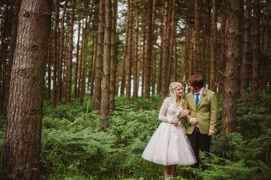 Bivouac outdoor woodland wedding Yorkshire