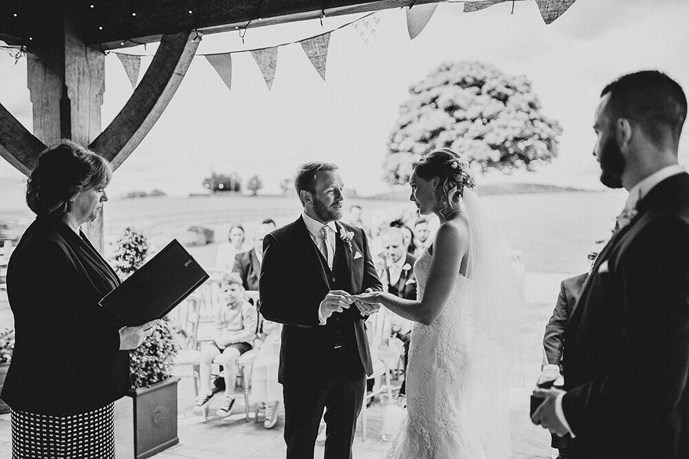 Heaton House Farm outdoor wedding Cheshire
