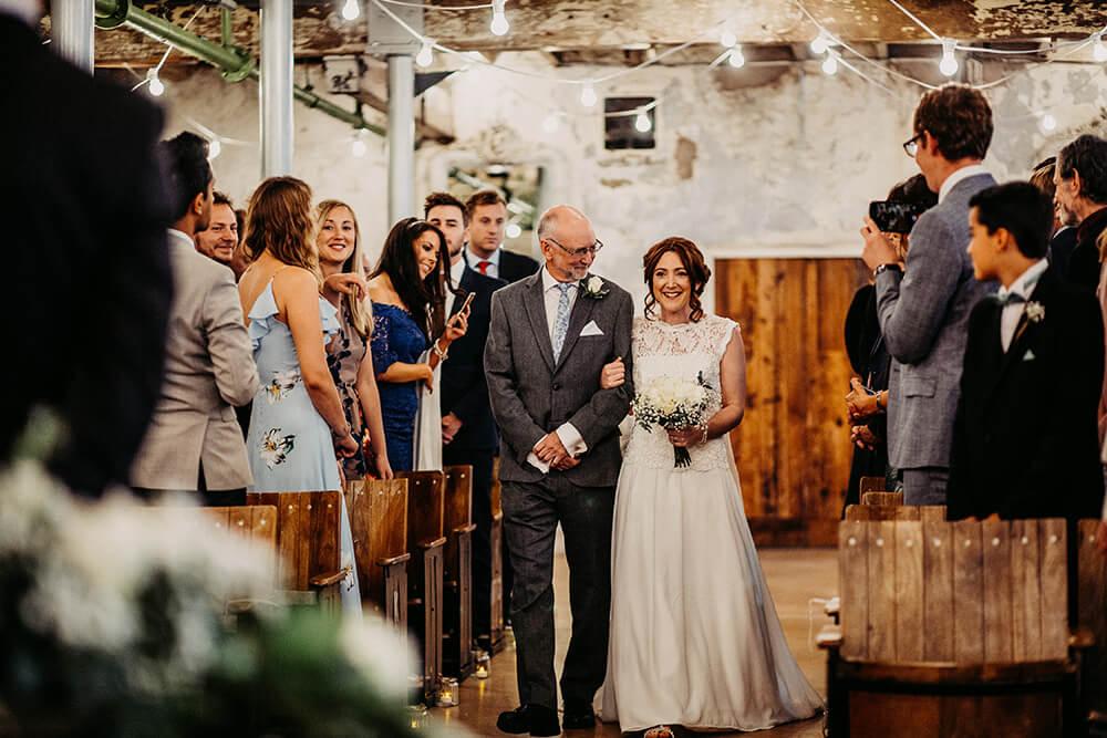 Industrial wedding Holmes Mill