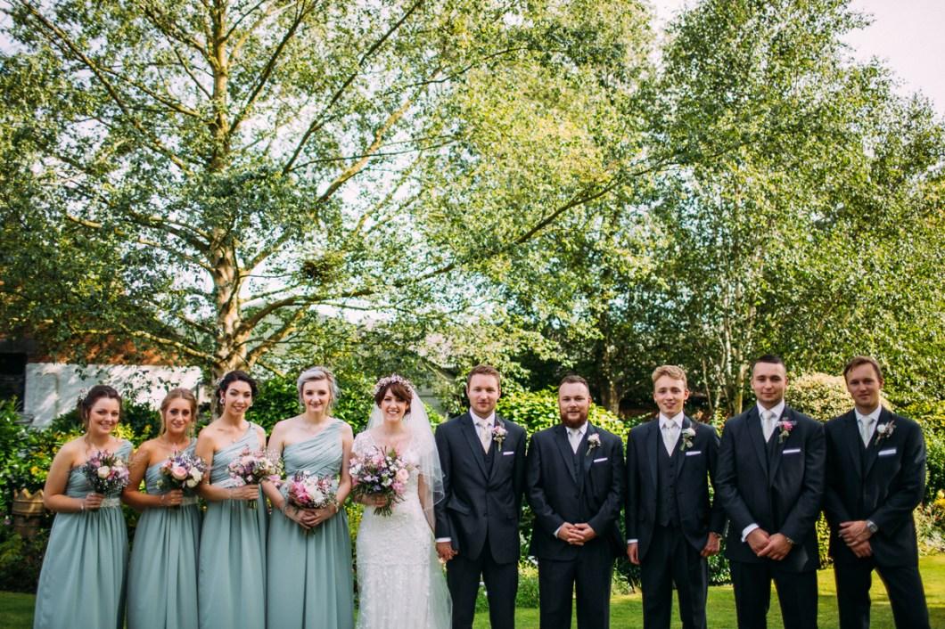 Marquee garden wedding Lancashire