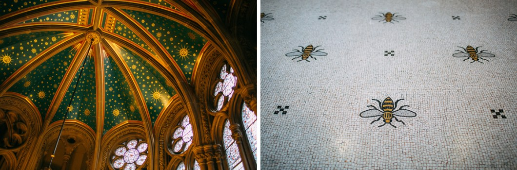 Manchester Town Hall bees and ceiling decor