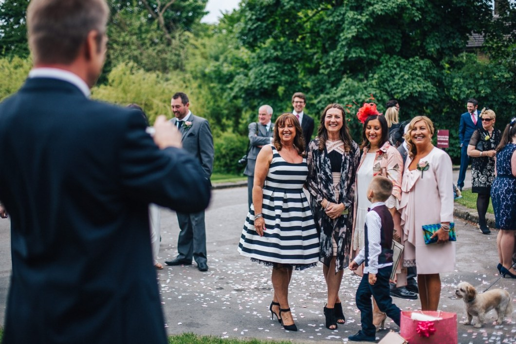 Wedding guests, East Riddlesden Hall.