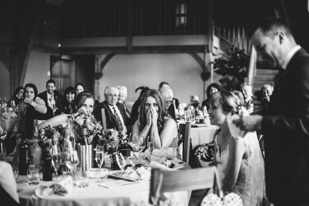 Reaction to wedding speeches