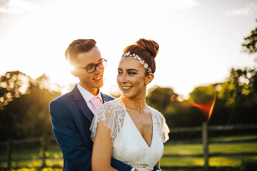 Sunset wedding photo Lancashire