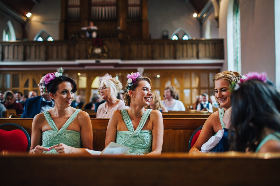 Bridesmaids in Church - Lancashire wedding photography