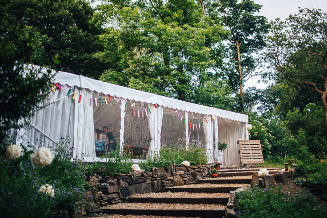 Relaxed outdoor wedding Spring Cottage Lancashire