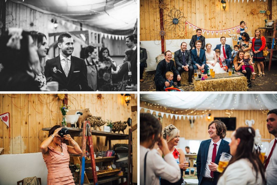 Relaxed Wellbeing Farm wedding