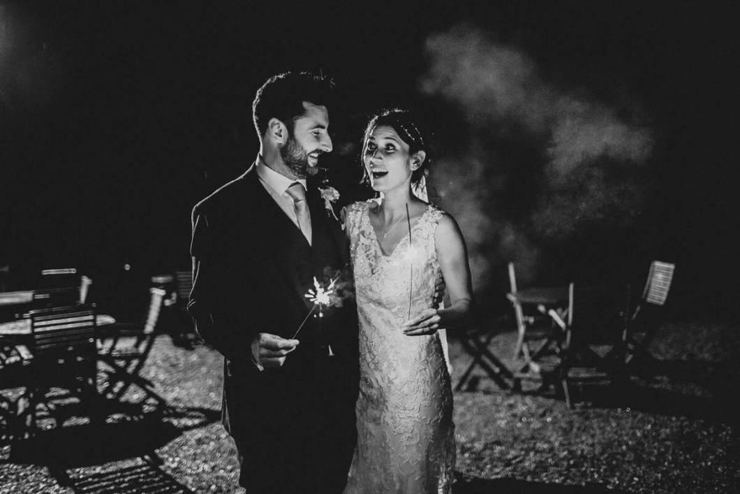 Wedding sparklers photo