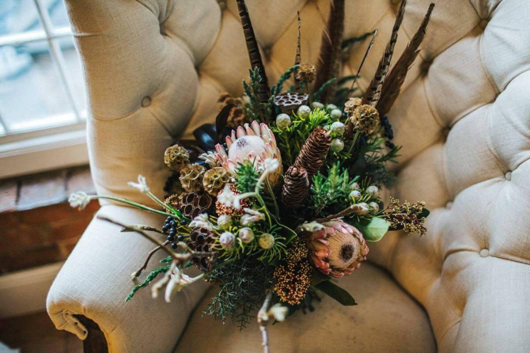 Woodland wedding bouquet