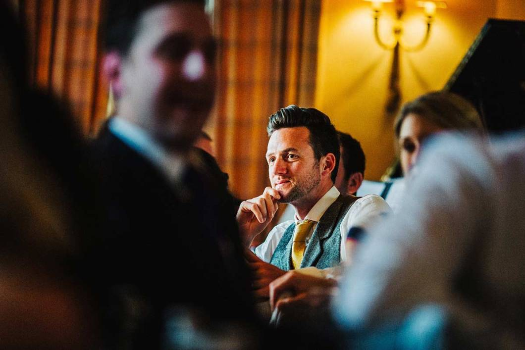 A wedding guest gets emotional