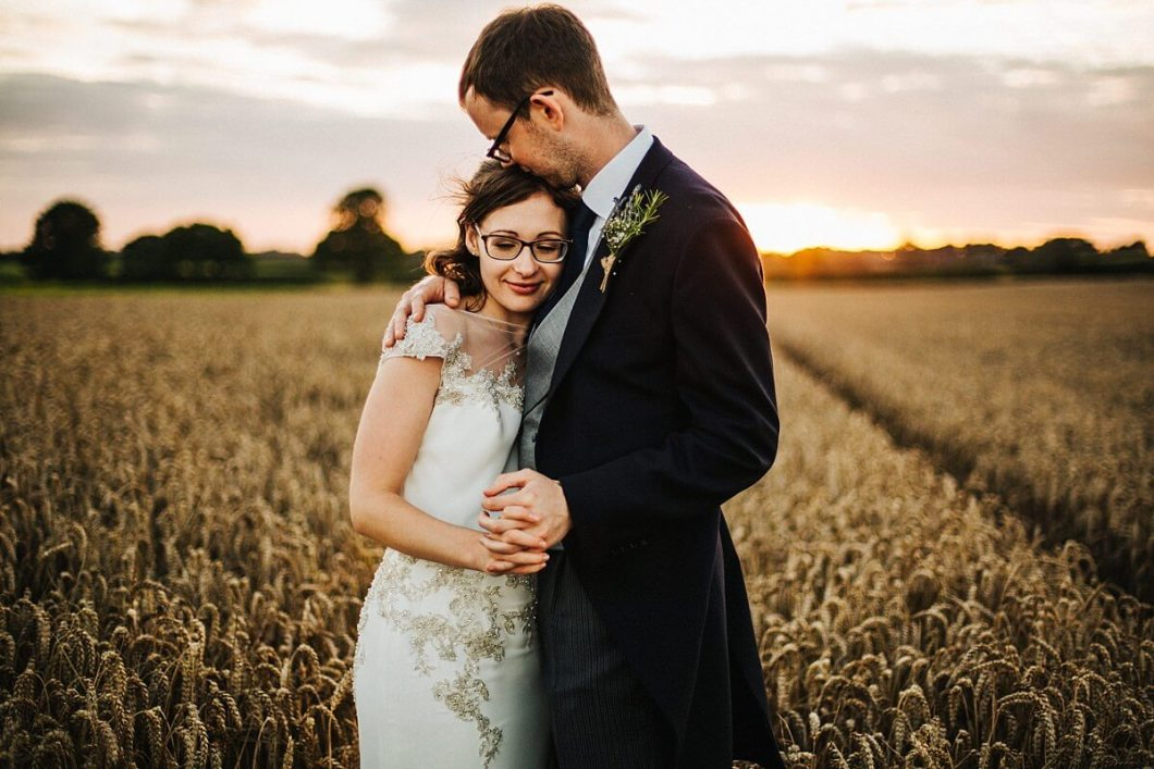 Beautiful sunset wedding photography