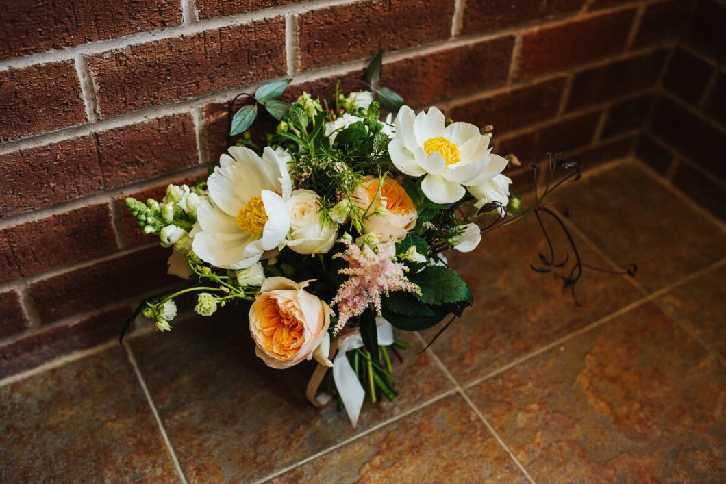 Ivy Pip and Rose wedding flowers