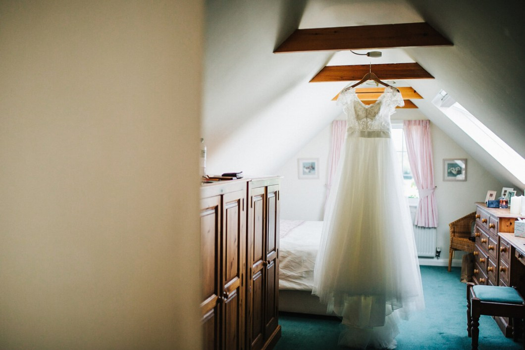 Watters wedding dress with tulle skirt
