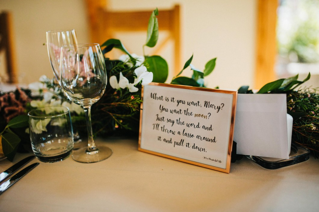 Film quote wedding signs