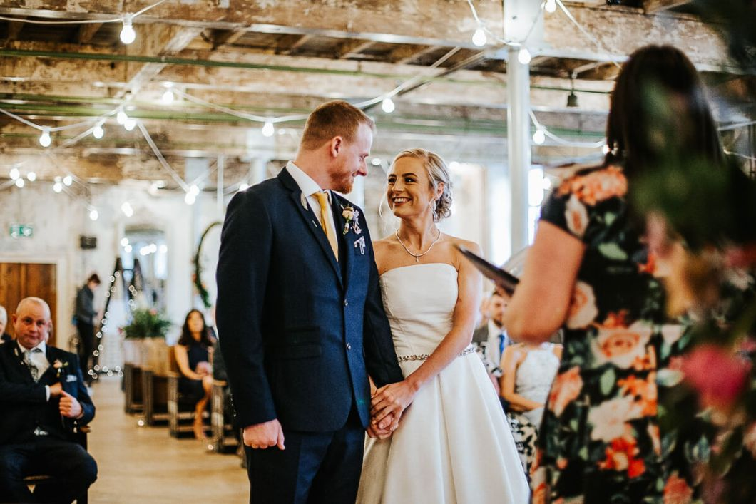 Relaxed Mill wedding ceremony