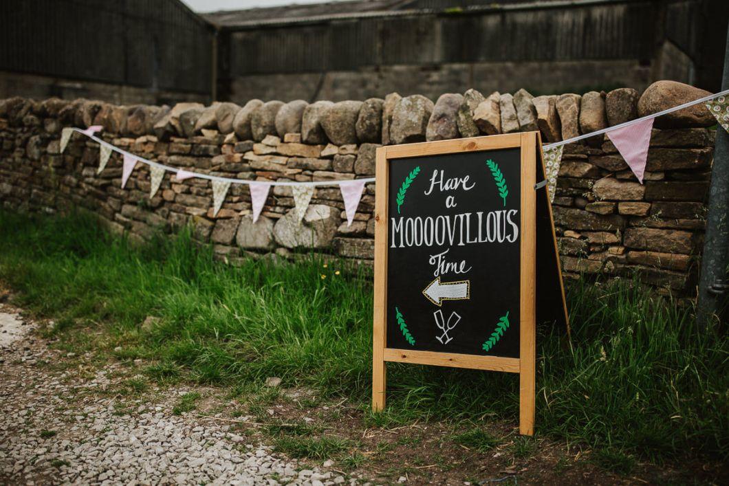 Farm wedding signage
