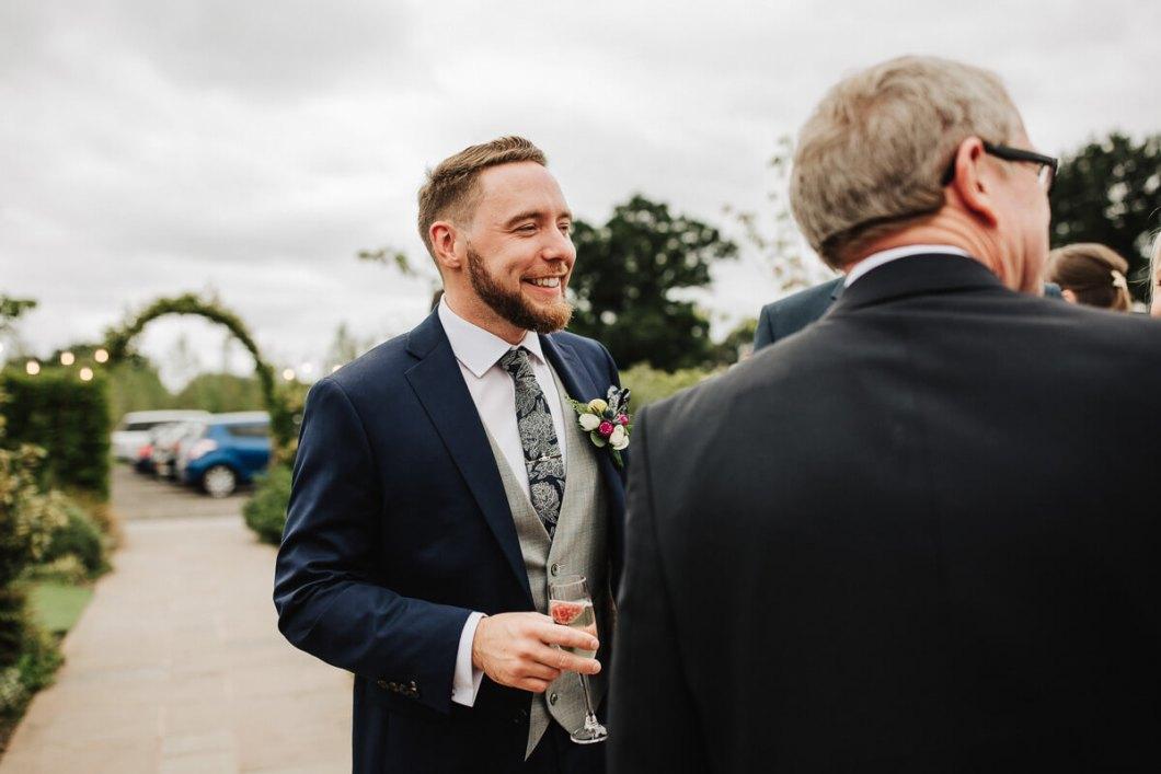 Groom enjoying the wedding