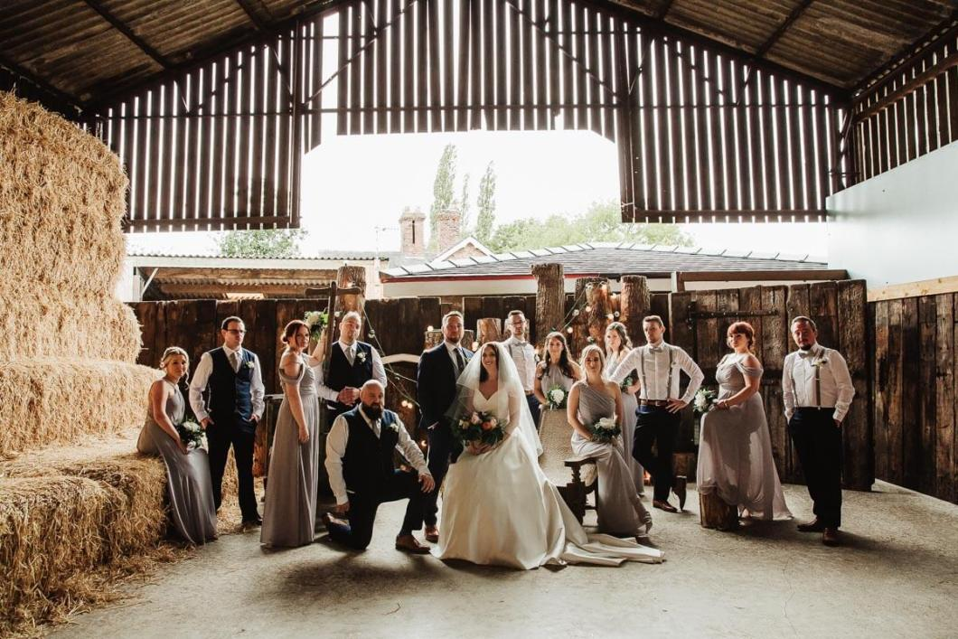 Styled bridal party photography