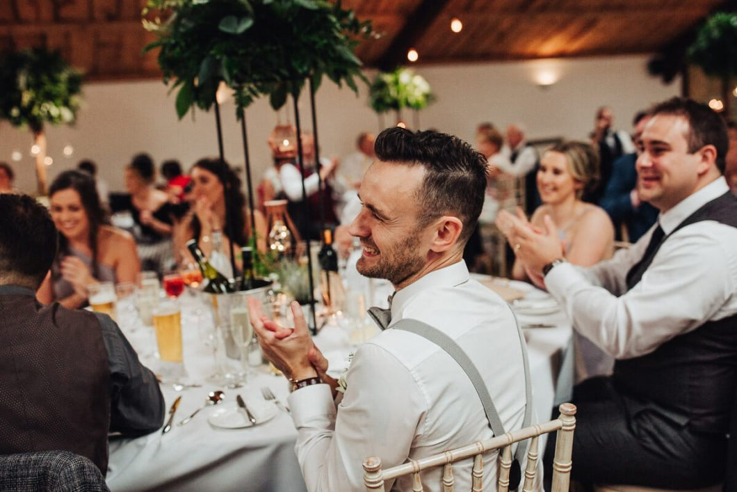 Guests clapping during speeches