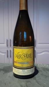 Mer Soleil Santa Lucia Highlands Reserve Chardonnay Wine Bottle