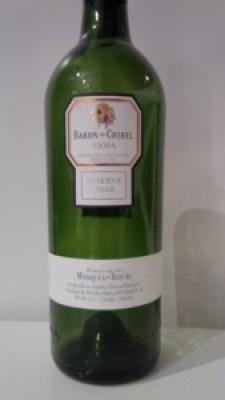 Baron de Chirel Rioja 2008 Reserva wine bottle