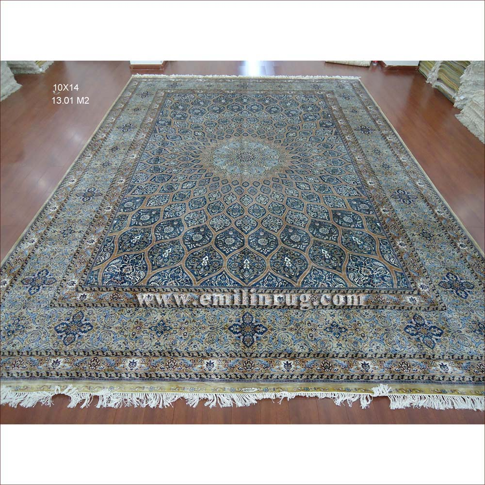blue persian rug living room ideas grey and black 1 10 x 14 large hand knotted handmade pure silk