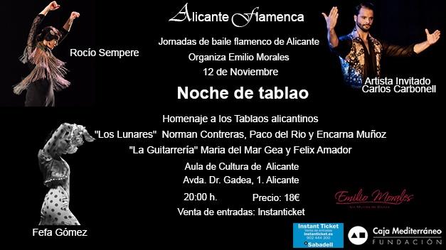Flamenco en tabla
