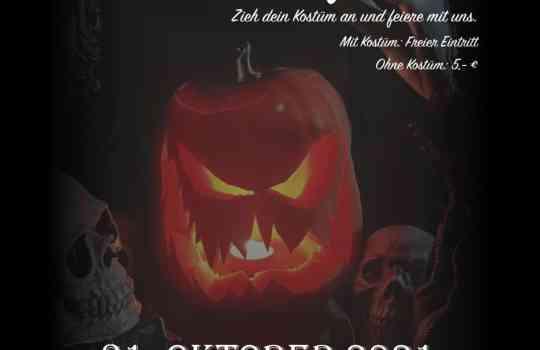 Halloween Übungsabend | 31.10.21 ab 22 Uhr | Ort: Tanzschule