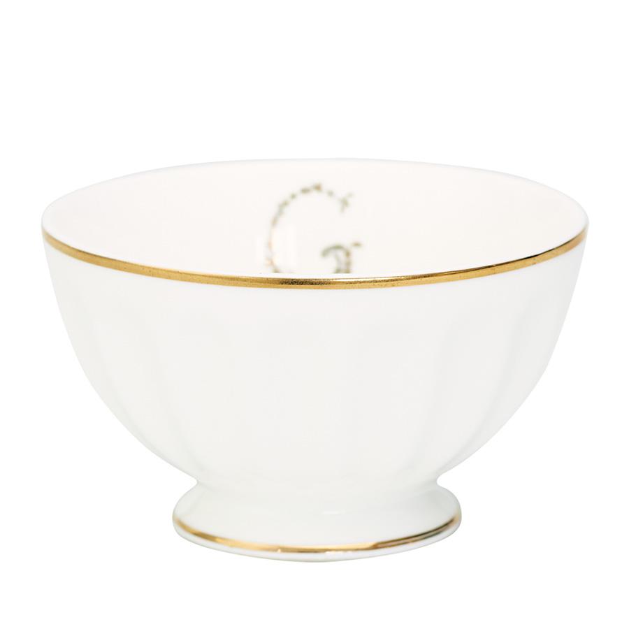 GreenGate Porzellan French Bowl G Gold Medium online kaufen  Emil  Paula