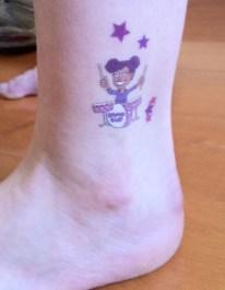 Shining Stars ankle temporary tattoo