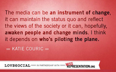 Miss Representation Katie Couric media quote text