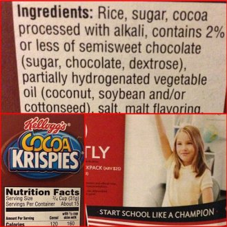 Cocoa Krispies box nutrition facts