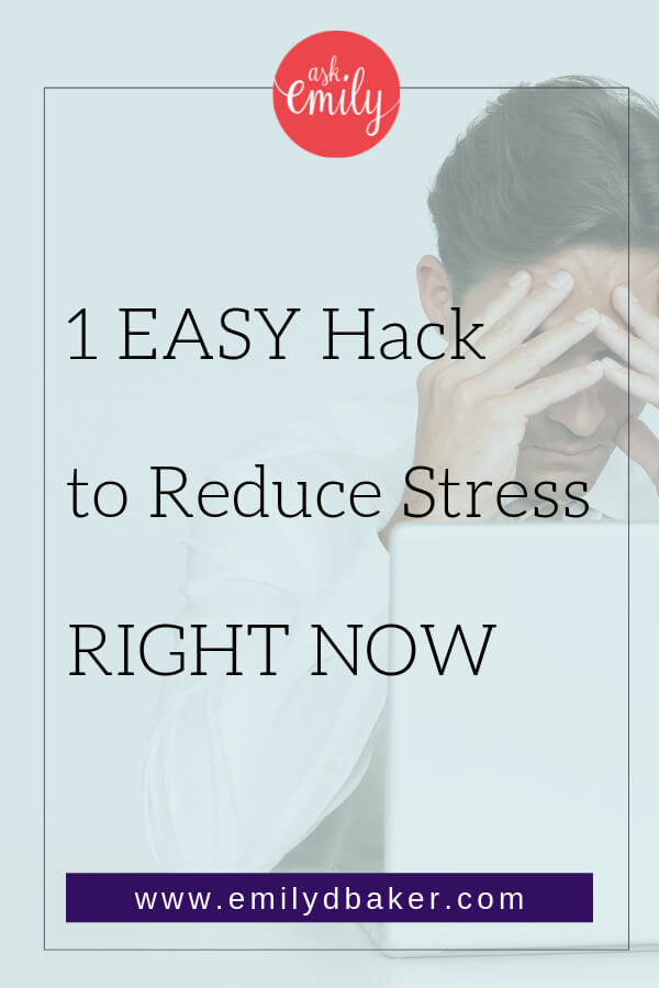 Running a small business can be very stressful. As an entrepreneur it can be difficult to manage all the demands. Here's 1 super easy way to instantly reduce your stress!
