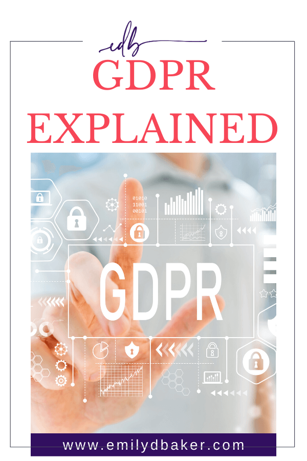 Are you a small business owner with a website? Have you heard of GDRP but have no idea what it means or if it applies to you? Click through to learn more about this!!