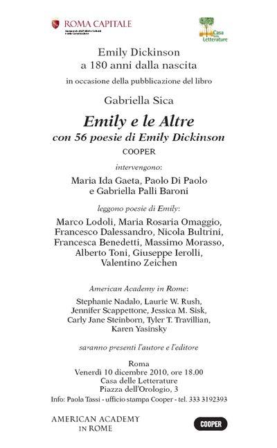 Serata Emily Dickinson