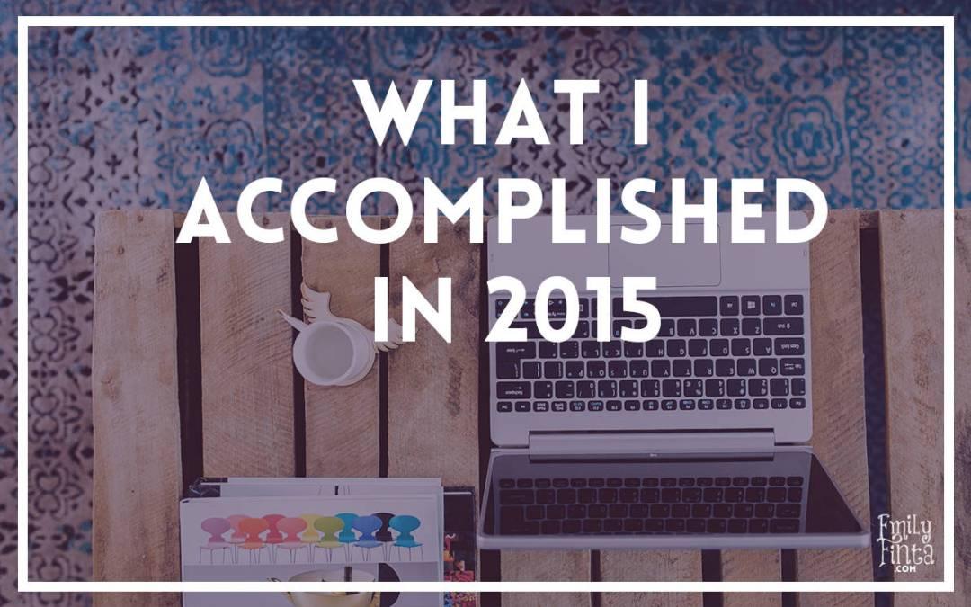 Accomplishments of 2015