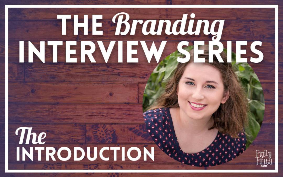 Introducing The Branding Interview Series