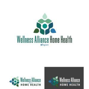wellness alliance home health logo design drafts 11 - Home Health Logo Design