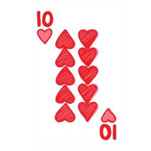 Custom Playing Cards Hearts 10