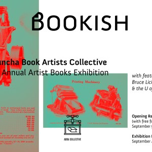 A Buncha Book Artists Exhibition Bookish, September 2017