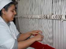 Caret weaving at l'Ensemble Artisanal in Marrakech
