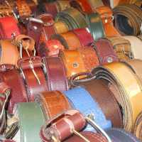 Belts at l'Ensemble Artisanal in Marrakech