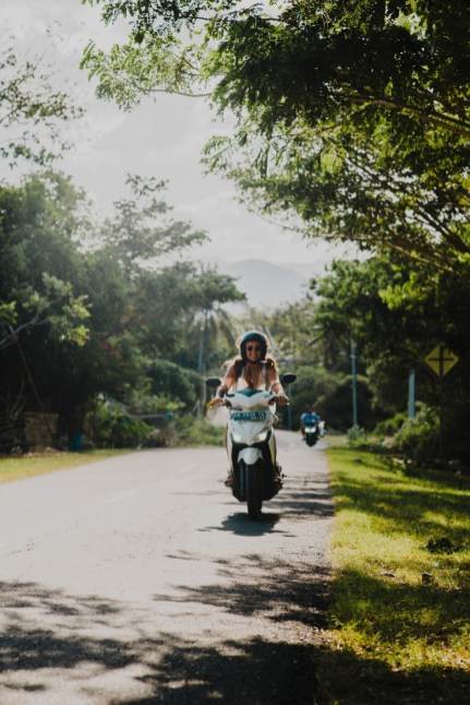 Rent a moped to explore lombok