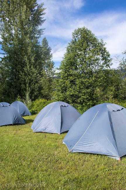 Trek America camping