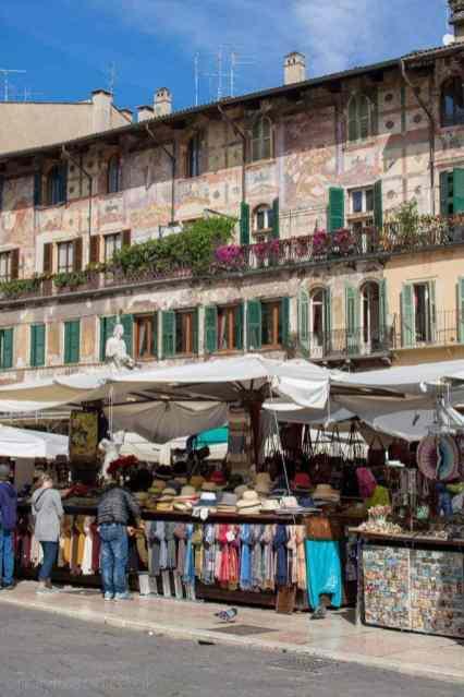 Pretty marketplace in Verona