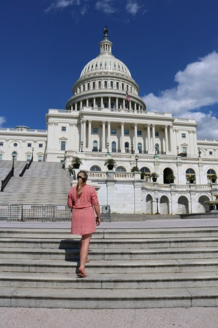 girl Capitol Building Washington DC