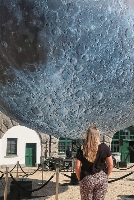 Dorset Moon at the Nothe Fort in Weymouth