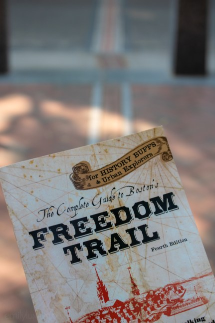 The Freedom Trail is marked by red bricks through the streets!