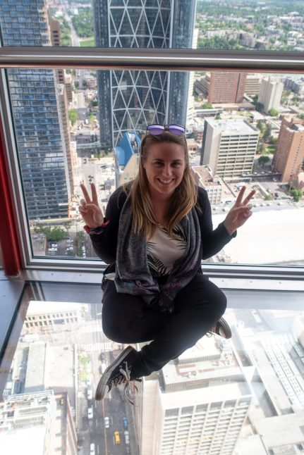 Glass Floor in Calgary Tower Canada
