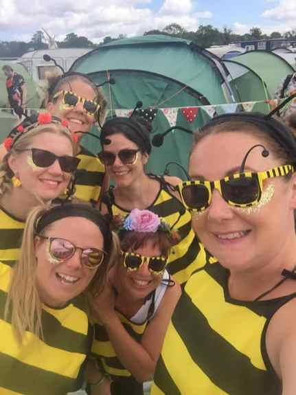 Bees at Glastonbury